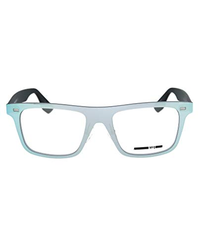 MCQ By Alexander Mcqueen MQ0024O Men's Eyeglass Frames - Silver/Black