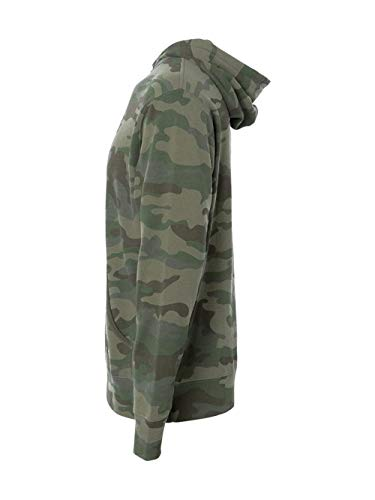 Independent Trading Co. Independent Trading Company Camo Hoodie, Camo Green, X-Large ()