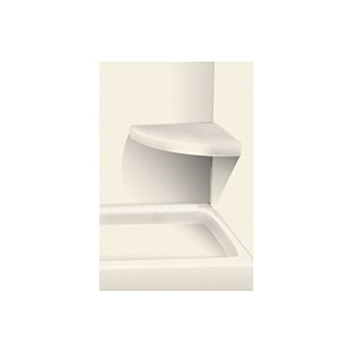 "good Transolid SEAT1818-A6 14"" x 14"" Solid Surface Wall-Mount Corner Decor Shower Seat, Cameo"