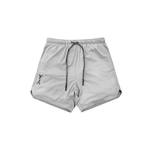 zitan Mens Quick Dry Jogging Elasticated Waist Shorts Pants Trousers Grey