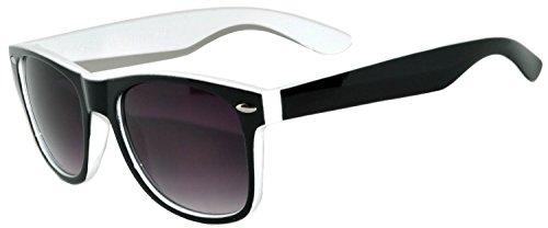 New Two Tone Black-white Sunglasses - Black Glasses White