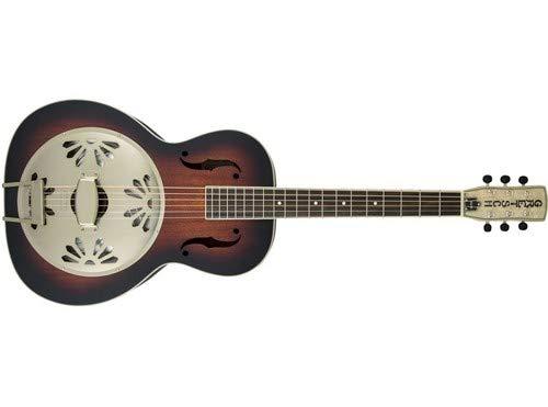 - Gretsch G9241 Alligator Mahogany Round Neck Acoustic Electric Resonator - 2-color Sunbur