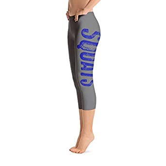 Amazon com: Gym Posters Squats Capri Leggings in Gray and