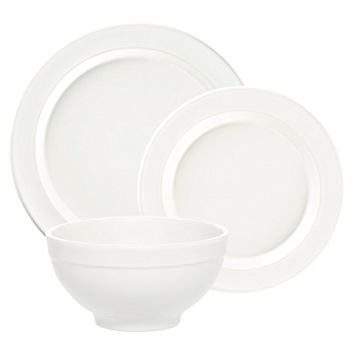 "Emile Henry Made In France Flour 3pc Dinnerware Set. Set Includes;1 Each 11"" Dinner Plate, 8"" Salad Plate, 6"" Cereal Bowl"