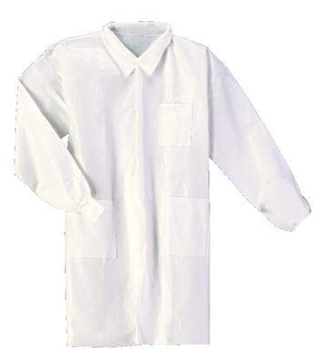 414004-347CS - Clothing Size : L - VWR Maximum Protection Fluid-Impervious Lab Coat - Case of 30
