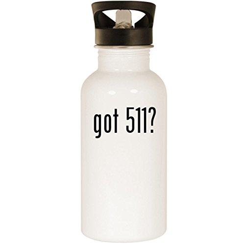 got 511? - Stainless Steel 20oz Road Ready Water Bottle, White