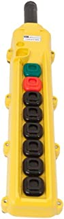 product image for KH Industries CPH08-B3C-000A 8 Push Buttons Pendant Control Switch, Maintained On/Off, 3-Single Speed