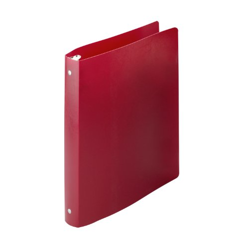 ACCO AccoHide Round Ring Binder, 8.5 x 11 Inches, 1 Inch Capacity, Semi-Rigid Cover, Executive Red (A7039719A)