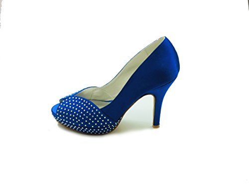 JIA 37020 de JIAJIA Novia Las Mujeres Toe JIA Zapatos de Tac Peep 8wUdqw