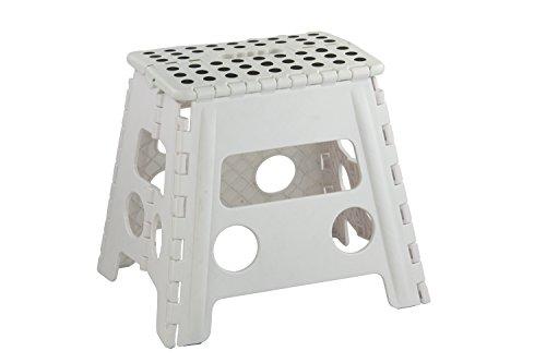 Home Basics FS49038-WHT Large Folding Kids Step Stool with Non-Slip Dots (White)