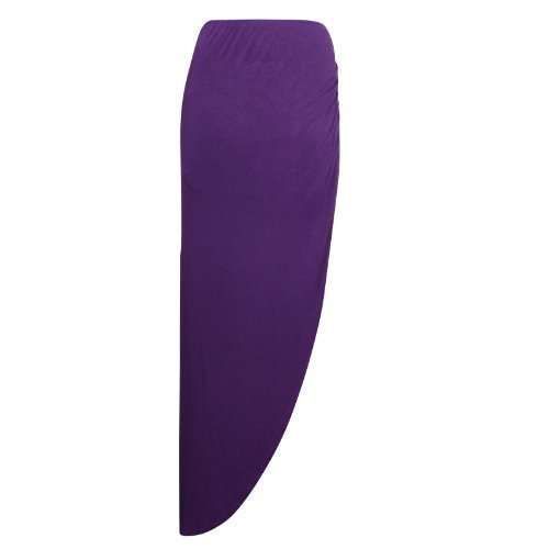 XpoZed Moda - Jupe Femme Fendue Cot Fronc Maxi Gypsy Violet