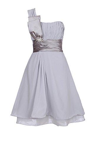 ROBLORA-Kleid-formale Abend-Cocktail Brautjungfer Brautkleid eine Schulter kurz 11890DE44