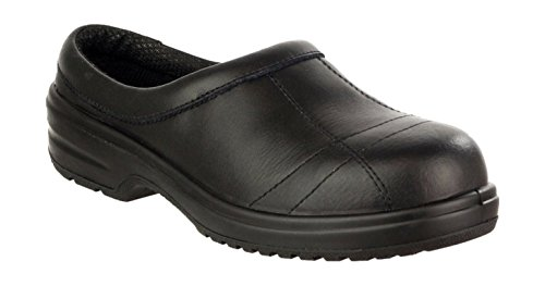 Amblers Safety Ladies FS93C Leather Safety Shoes Black Black