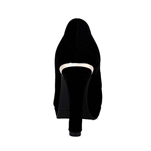 Suljettu Kiinteä Pumppuihin Weipoot Pull Toe Naisten Musta Himmeä Kierros Korkokengät kengät qUw4IwpT