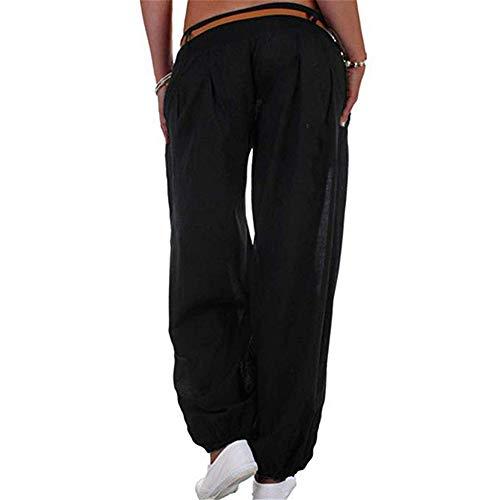Fit Sportswear 5XL Pantaloni Nero Pantaloni S Yoga unita Plus Size tinta da Pilates Harem Loose Pantaloni donna ZIq8BCI