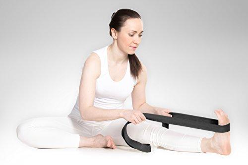YogaAccessories 10' Cinch Buckle Cotton Yoga Strap (Black)