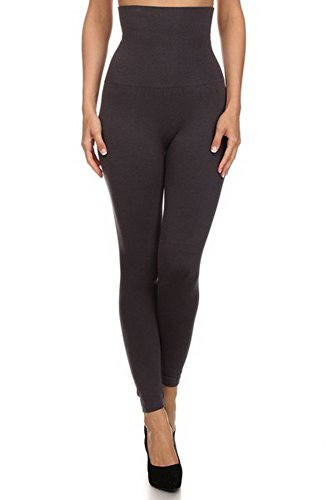 belle-donne-womens-high-waist-compression-non-fleece-stylish-leggings-charcoal