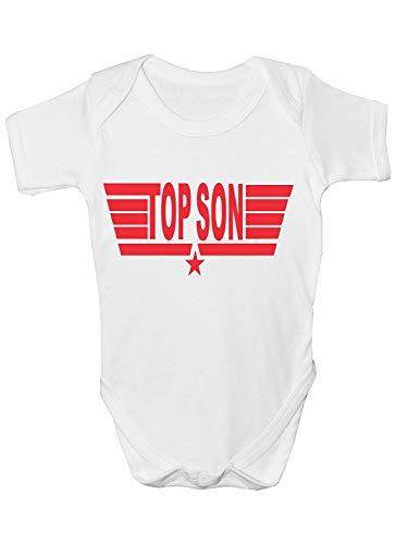 (Mesllings Top Son from Top Gun ~ Funny Babygrow~Babies Gift Boy/Girl Vest)
