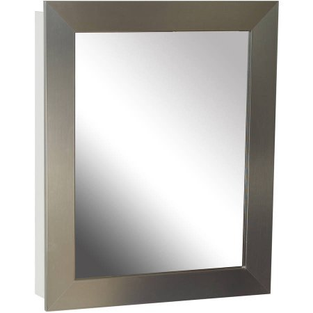 Zenith NRS2430 24.5″ x 30.5″ x 5.25″ Nickel Framed Medicine Cabinet