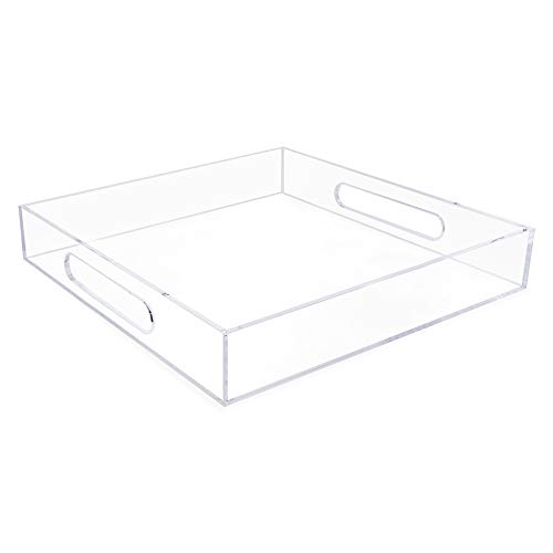 Isaac Jacobs Acrylic Tray (12x12, Clear)