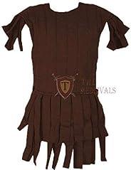 The Medieval Shop Thick Padded Sleeveless Cotton Roman Subarmalis - Brown
