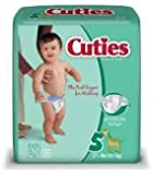 First Quality Baby Diaper Cuties Tab Closure Size 5 Disposable Heavy Absorbency (#CR5001, Sold Per Pack)