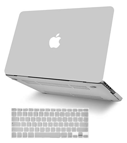 """KECC Laptop Case for MacBook Air 13"""" w/Keyboard Cover Plastic Hard Shell Case A1466/A1369 2 in 1 Bundle (Stone Grey)"""