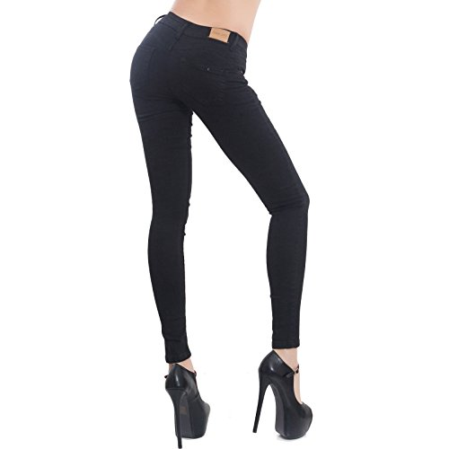 push pantaloni elasticizzati M5780 aderenti slim up donna nuovi Jeans skinny Toocool Nero qgaXYxq