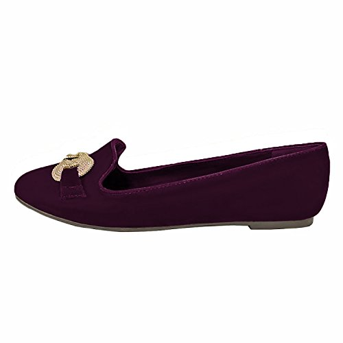 Paprika Silver Paprika Purple Suede Buckle Ballet With Womens Flats Suede 5wB0qwT