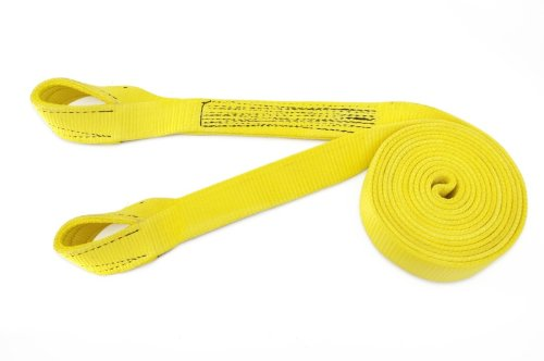 Progrip 151530 Medium Duty Tow and Recovery Strap with Yellow Polyester Flat Webbing and Reinforced Loop Ends for Truck Car and Other Vehicles,30' x 2'' by Progrip