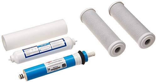 Filmtec 5-Stage-50F Reverse Osmosis Replacement Filter Set 5 pcs w 50 GPD Membrane, 9.75