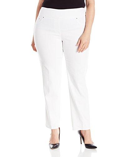 Ruby Rd. Women's Plus-Size Pull-On Extra Stretch Denim Jean, White, 18W (Stretch Jeans Plus)