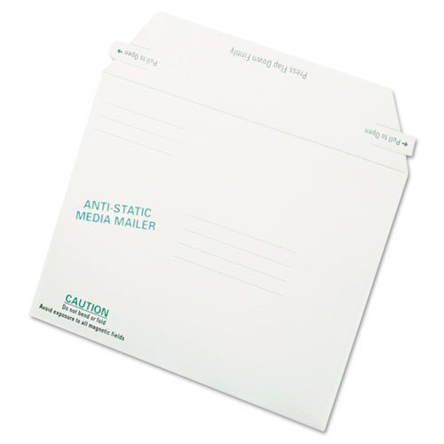 - Antistatic Fiberboard Disk Mailer, 6 x 8 5/8, White, Recycled, 25/Box, Sold as 1 Box, 25 Each per Box