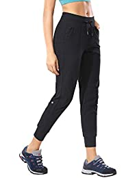 Women's Hiking Pants Lightweight Quick Dry Drawstring Joggers with Pockets Elastic Waist Travel Pull on Pants