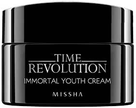 [MISSHA] Time Revolution Immortal Youth Cream for Face and Eye Area - Anti Aging Moisturizer & Elastic Anti Wrinkle Ageless Cream - Helps Brightening & Hydrating Dry Dull Skin - Reduce Appearance of Wrinkles and Prevents Fine Lines - Free of Parabens, Free of Artificial Coloring, Vegan, Cruelty-Free Line. Floral Scented - 1.69 oz / 50 ml