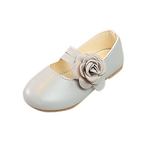 (Toddler Mary Jane FAPIZI Children Kids Girls Flower Leather Princess Shoes Outdoor Dance Flats Casual Shoes)