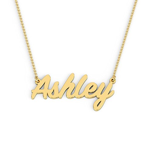 14K Yellow Gold Personalized Name Necklace with a 16
