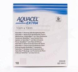 """AQUACEL EXTRA Hydrofiber Dressing, 4"""" x 5"""", Box of 10"""