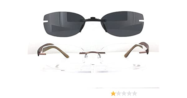9606d203cd1 Amazon.com  SILHOUETTE 7608-53X32 POLARIZED CLIP-ON SUNGLASSES (Frame NOT  Included)  Health   Personal Care