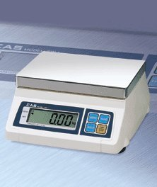 CAS SW-5 Food Service Scale, 5 x 0.002 lbs, Kg/g/Oz/Lb Switchable, Single Display, Legal for Trade