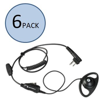 Motorola HKLN4599 D-Shaped Earpiece (6 Pack)