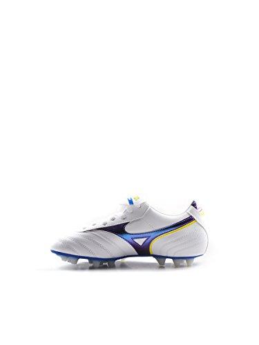Mizuno - Scarpa Mrl Club Jnr 24 Calcio Bianco/Blu, 38.5