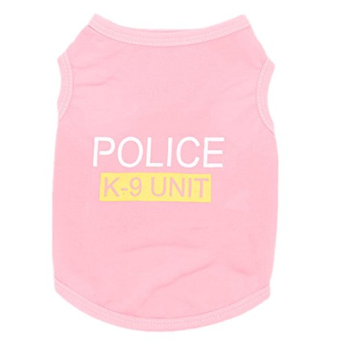 Minisoya Unisex Pet Clothes Puppy Dog Cat Letters Printed Vest T-Shirt Doggy Summer Tank Tops Apparel Clothes (Pink, S) ()
