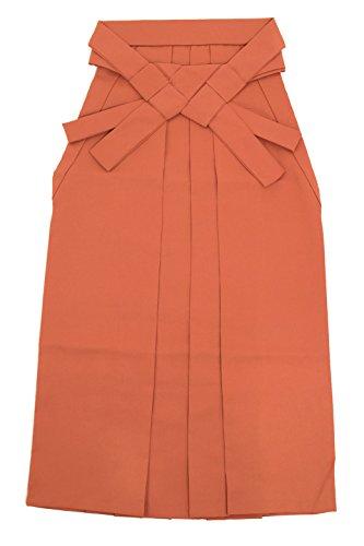 暫定途方もない寄付袴 単品 橙色 オレンジ 無地 シンプル はかま 行灯袴 スカートタイプ 卒業式 女性用 レディース