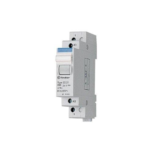 Contacteur modulaire 2 NO (T) (AC1, 250 V/AC) 20 A Finder 22.22.8.024.4000