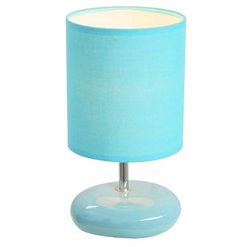 Simple Designs LT2005 BLU Stonies Small Stone Look Table Lamp, Blue
