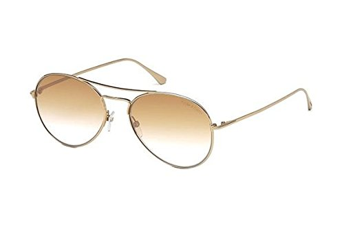 Sunglasses Tom Ford ACE- 02 TF 551 FT 28G shiny rose gold / brown - Ace Tom Ford