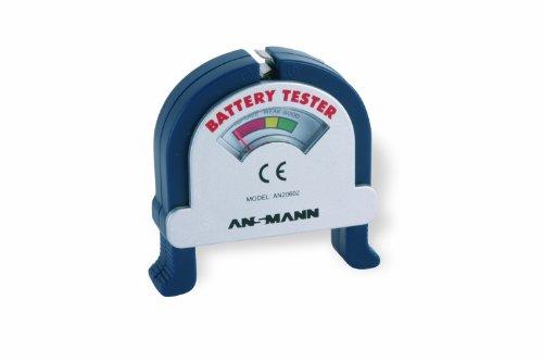 ANSMANN 4000001 Universal Batterietester für alle Rundzellen & 9V Blocks, Anzeige der Restkapazität