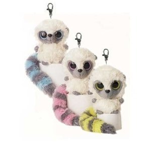 Aurora YooHoo And Friends 3 Inch Plush Bush Baby Clip On Stuffed Animal By (Receive 1 Key Chain) (Animal Friends Keychain)