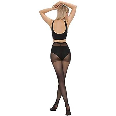 MANZI Women's Pantyhose 6-Pack Sheer Nylon Tights 20-Denier Basic Hosiery at Women's Clothing store